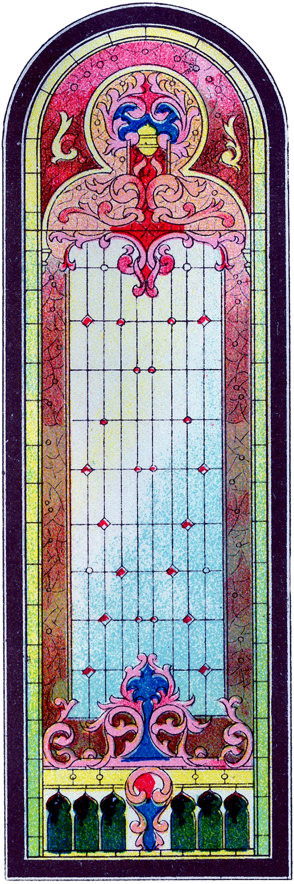Beautiful stained glass church window clip art the for Art glass windows
