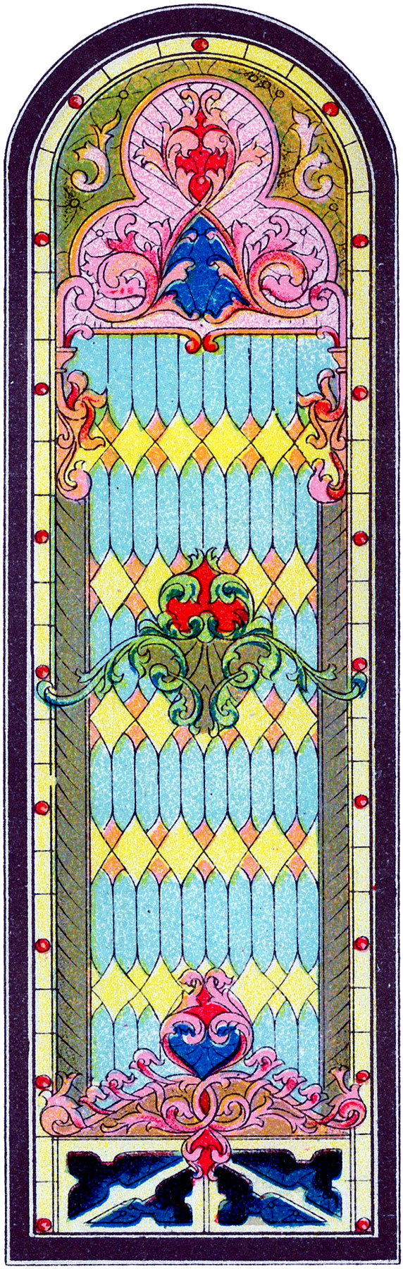 Stained Glass Church Window Image
