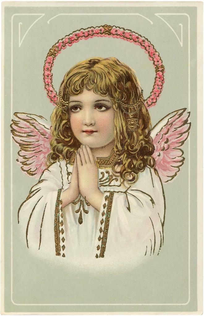 Vintage Angel Pink Wings Image
