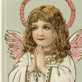 Gorgeous Vintage Angel Pink Wings Image!