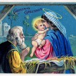 Vintage Christmas Baby Jesus Image