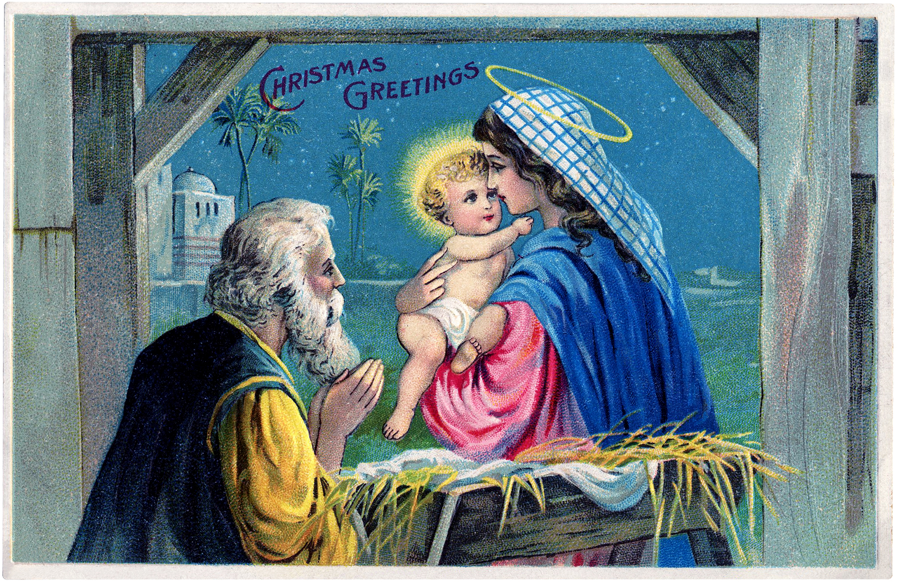 Christmas pictures of baby jesus in the manger