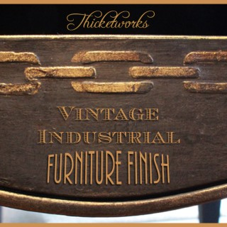 Vintage Industrial Finish Technique!
