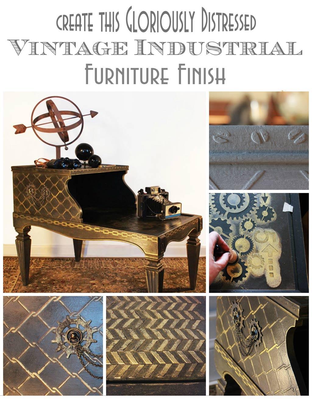 Vintage-Industrial-Venetian-Texture-Montage