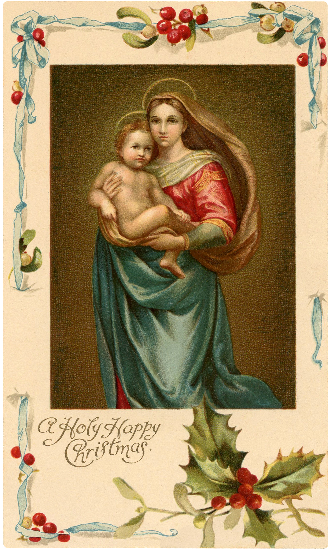 Vintage Madonna with Child Image