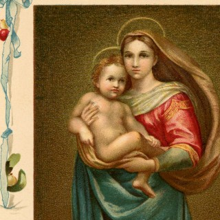 Beautiful Vintage Madonna with Child Image!