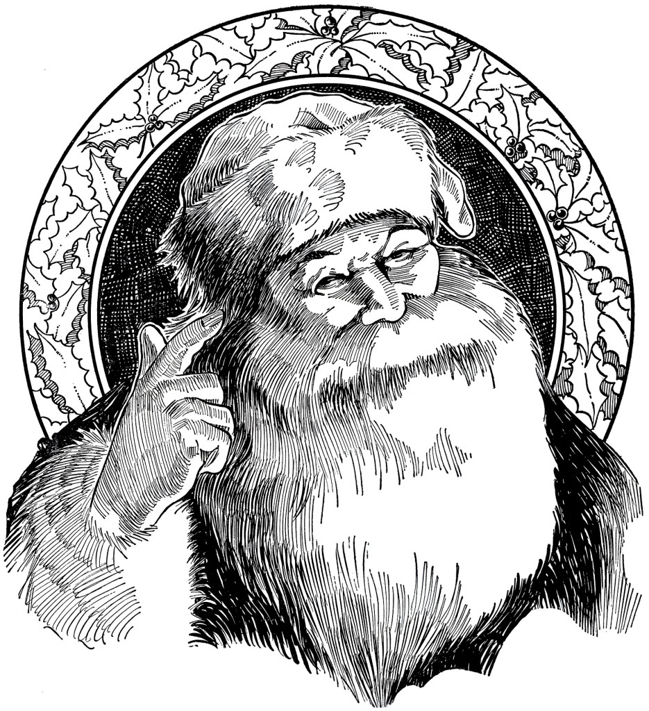 Vintage Santa Illustration