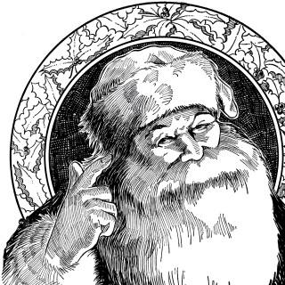 Beautiful Vintage Santa Illustration!