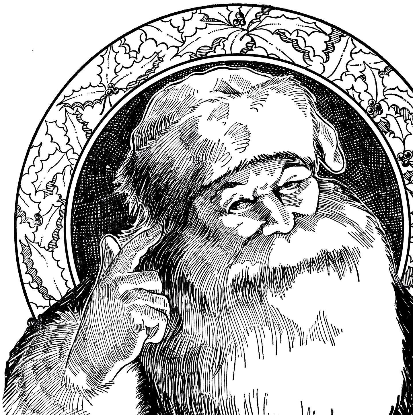 santa illustration christmas clip holiday graphics illustrations cute merry thegraphicsfairy victorian thm graphicsfairy