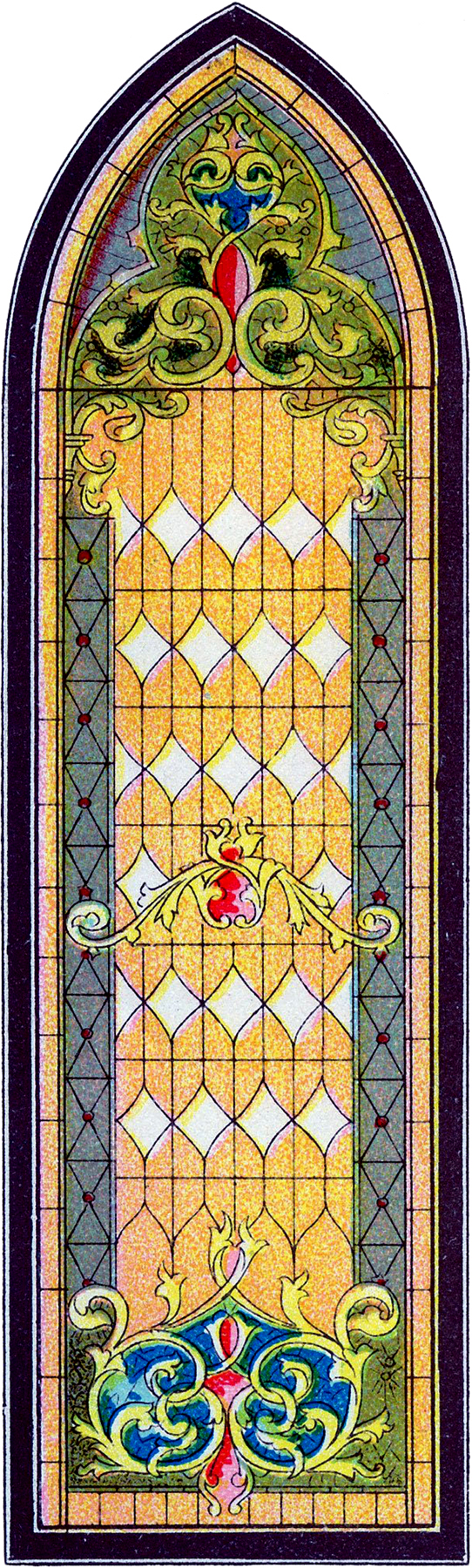 Vintage stained glass church window image the graphics for Window design clipart