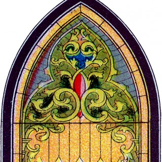 vintage Stained Glass Clipart