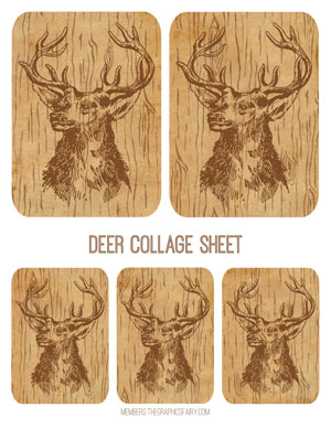 deer_wood_collage_graphicsfairy