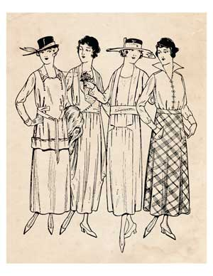 fashion-ladies-group-sketch-graphicsfairy