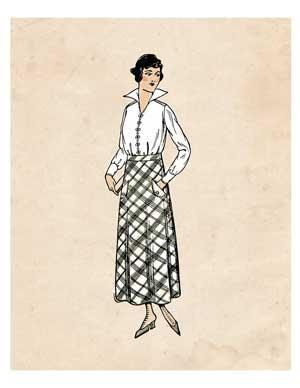 fashion-lady-plaid-graphicsfairy