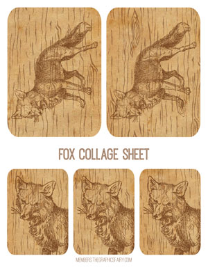 fox_wood_collage_graphicsfairy