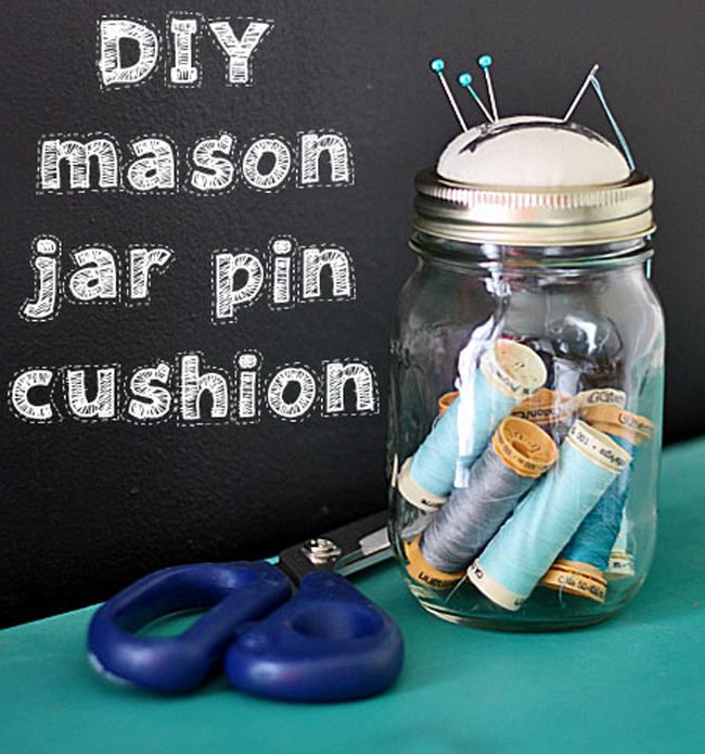 27 - Gina - Mason jar Pin Cushion