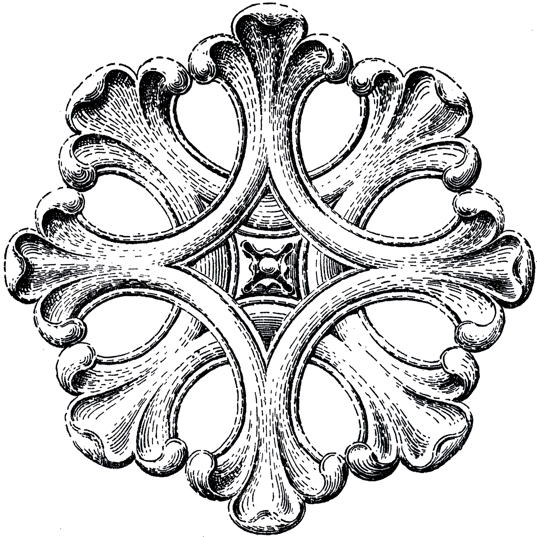 Architectural Rosette Ornament Image