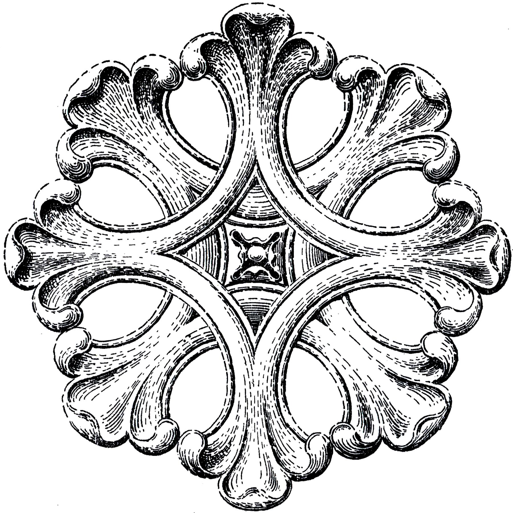 Architectural Rosette Ornament Image