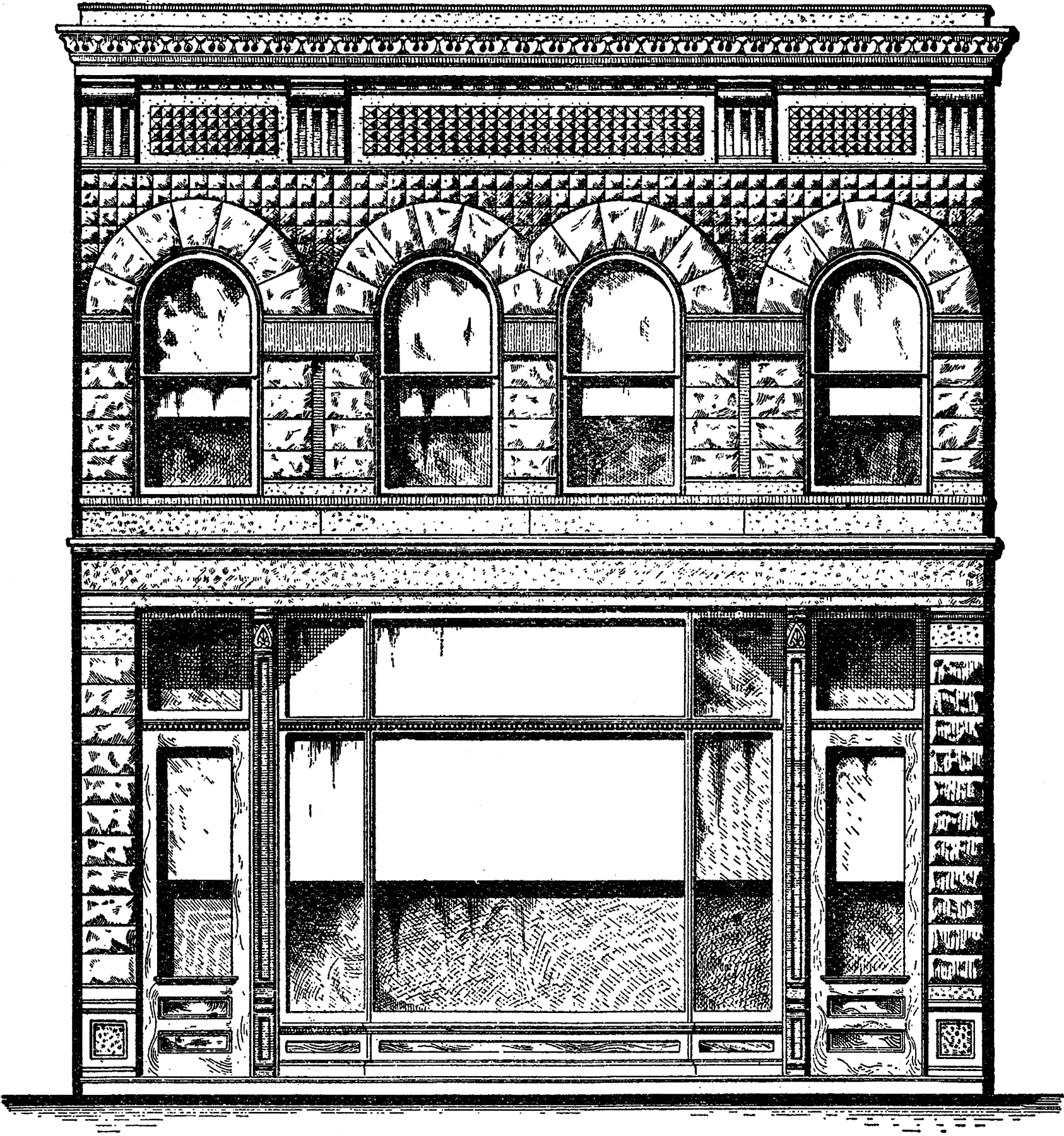 Architectural Town Shop Image