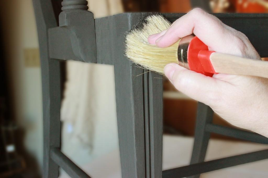 Classic Black Beauty Paint Finish Best Chalk Brush