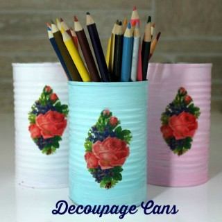 DIY Decoupage Cans