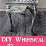 DIY Decoupage Furniture Whimsical Table