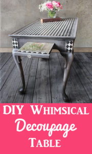 DIY Decoupage Furniture Whimsical Table
