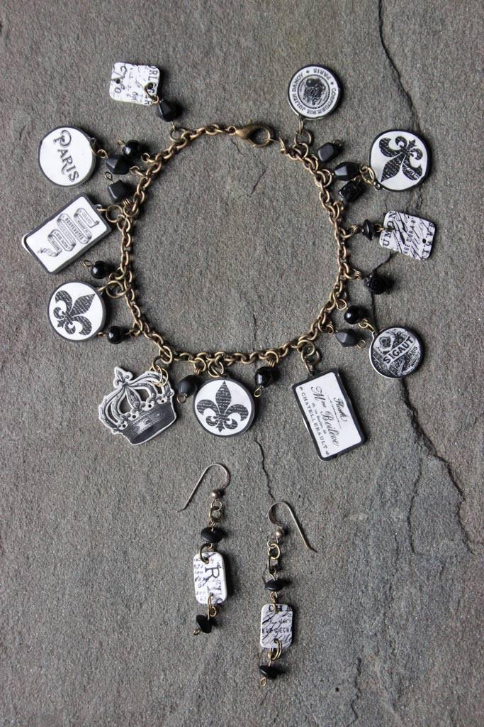 DIY-Parisian-Charm-Bracelet-and-Earrings