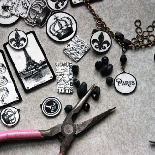 Make Shrinky Dink Charms – Paris Bracelet Project!