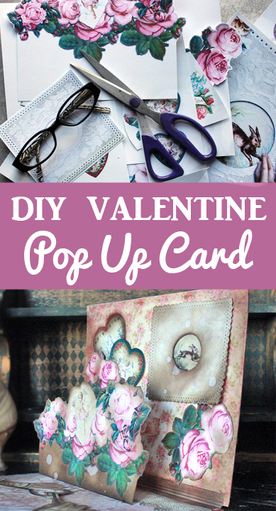 DIY Vintage Valentine Pop Up Card