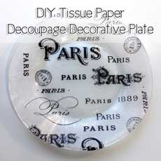 DIY Tissue Paper Decoupage Decorative Plate!