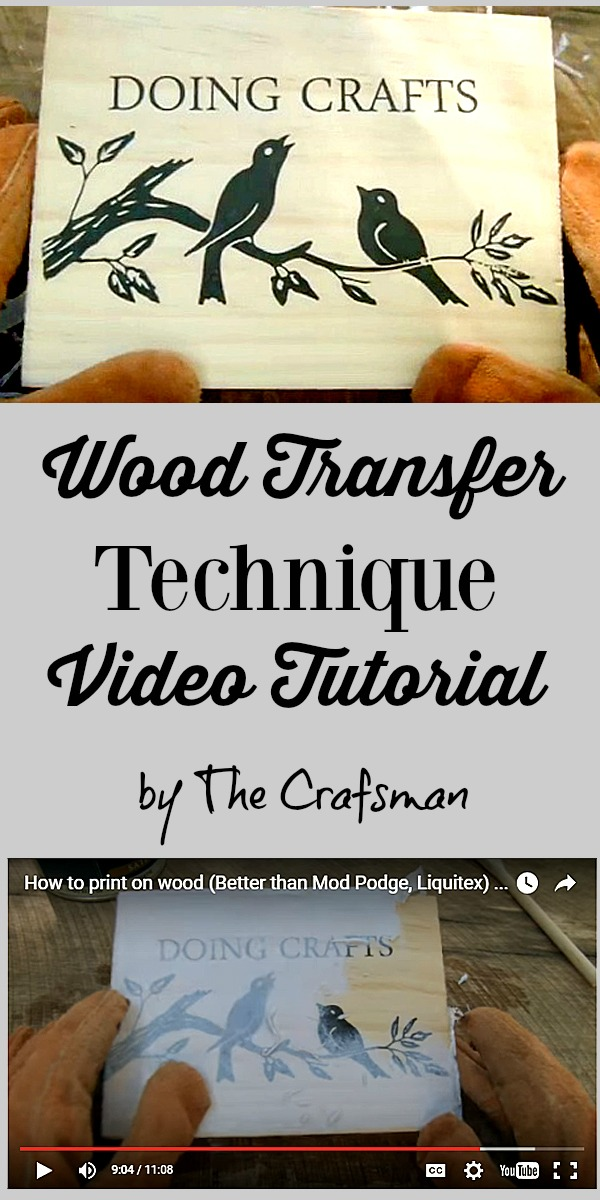 How to Transfer onto Wood