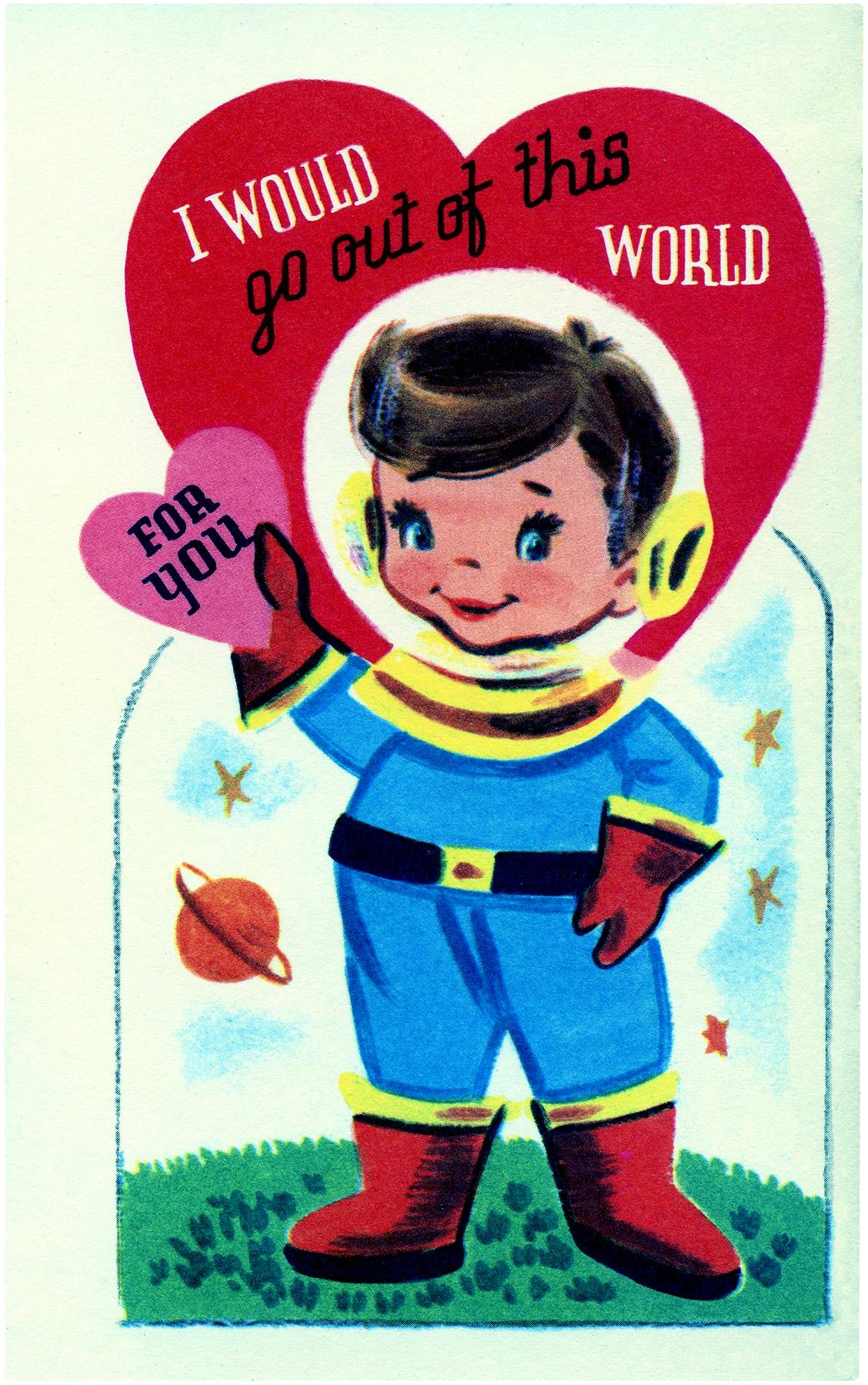 Retro Astronaut Image