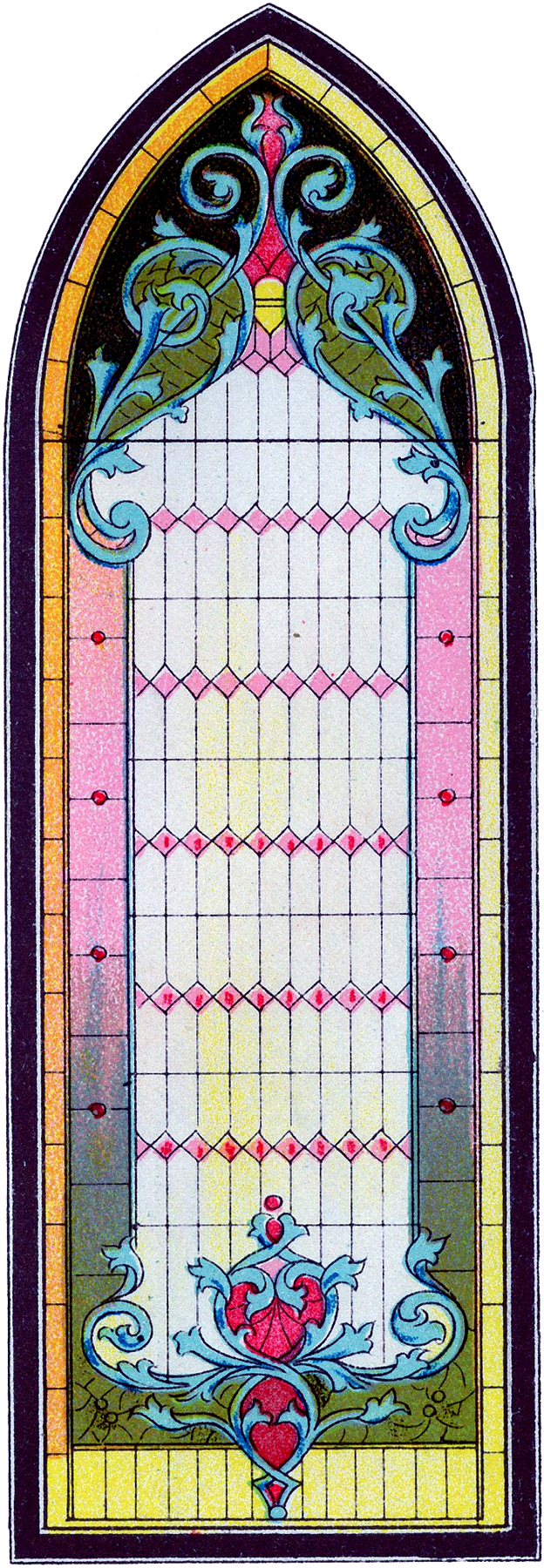 Vintage Stained Glass Gothic Window Image The Graphics