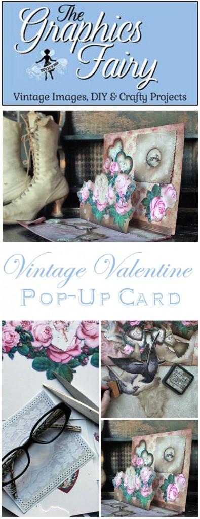 Vintage Valentine Pop Up Card