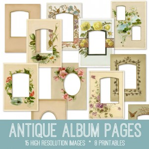 Antique Album Pages Kit