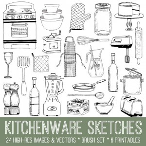 Kitchenware Doodles Kit