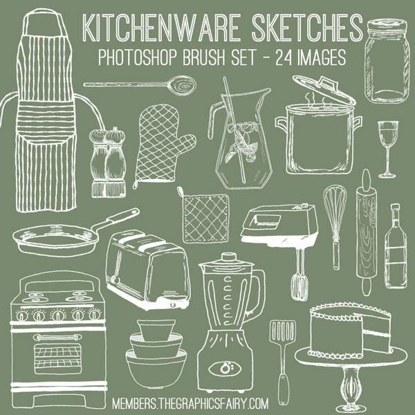 kitchen_sketches_brushes_graphicsfairy