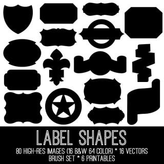 Fabulous Label Shapes Kit – TGF premium membership!