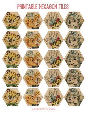 valentine_hexagon_tiles_animals_graphicsfairy