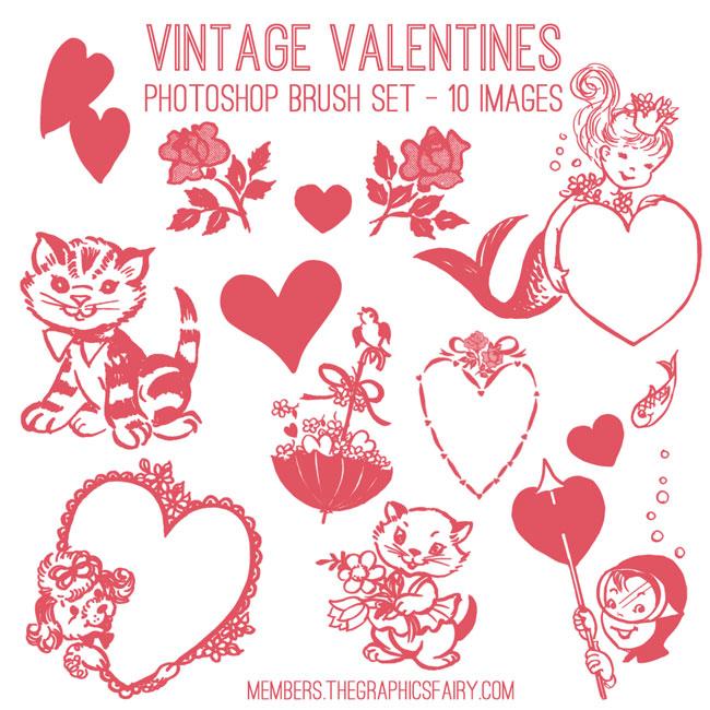 vintage_valentine_brushes_graphicsfairy