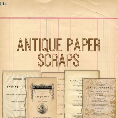 antique paper scraps kit