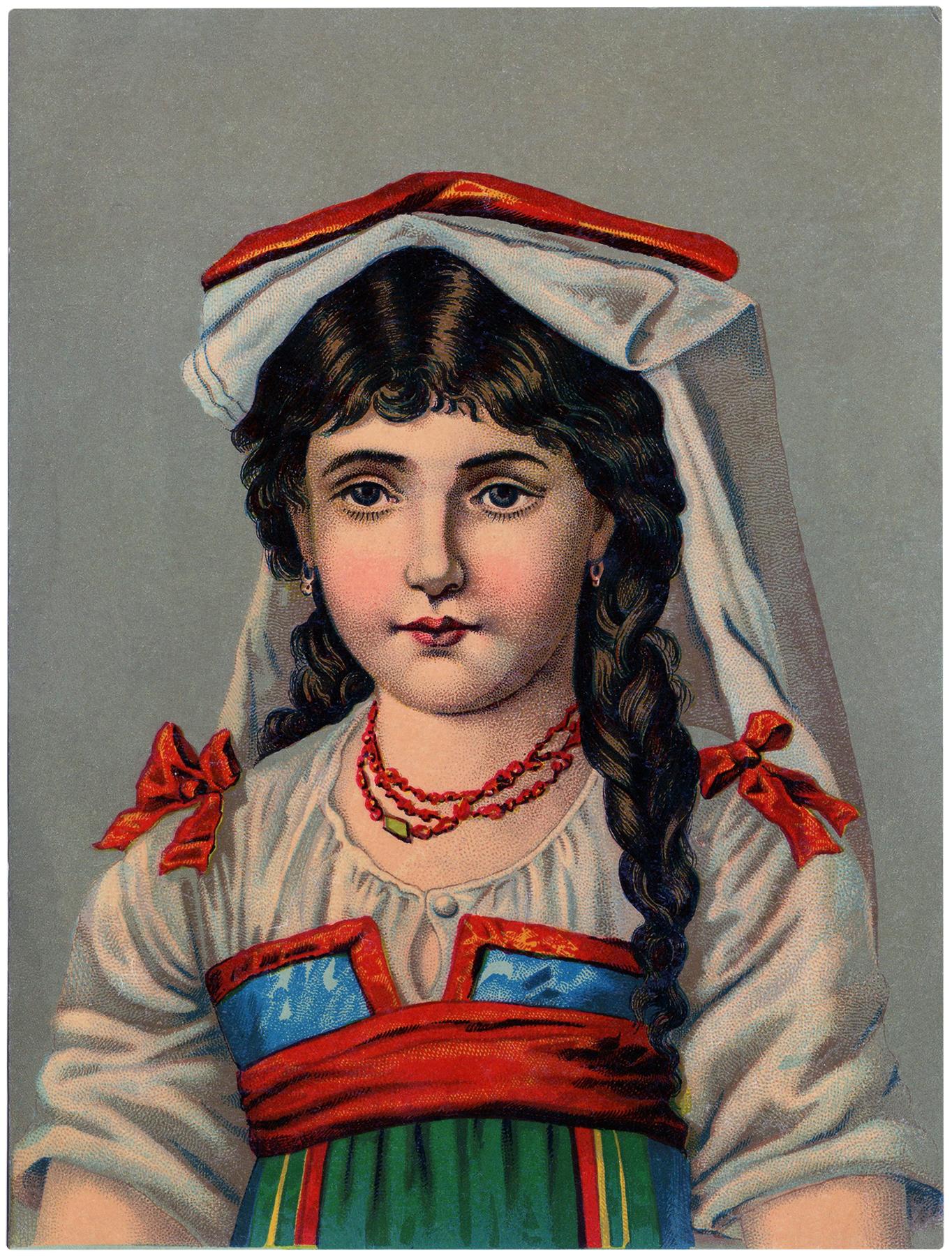 Beautiful French Girl Image