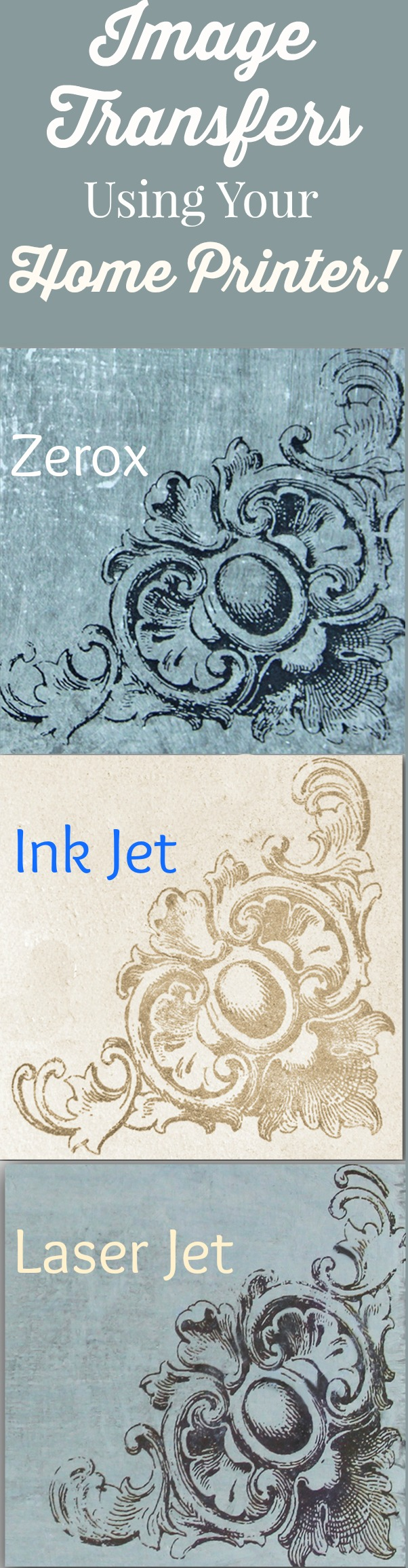 How to Transfer Images with Inkjet