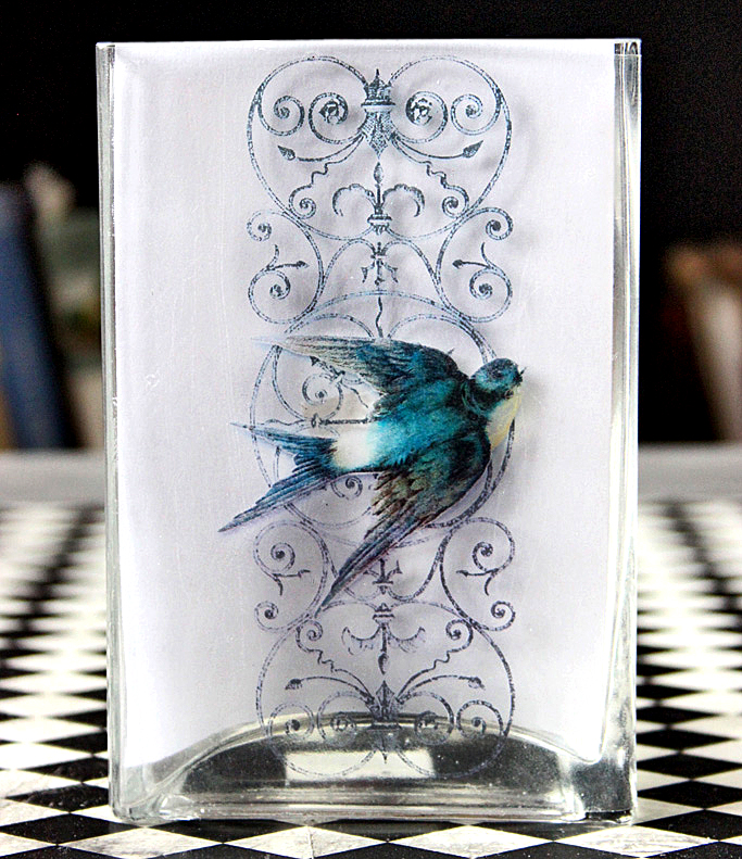 clear contact paper transfer on glass