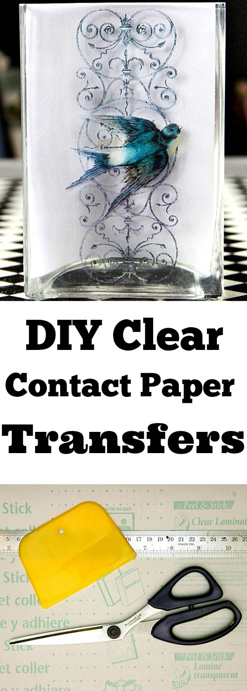 DIY Clear Contact Paper Transfers