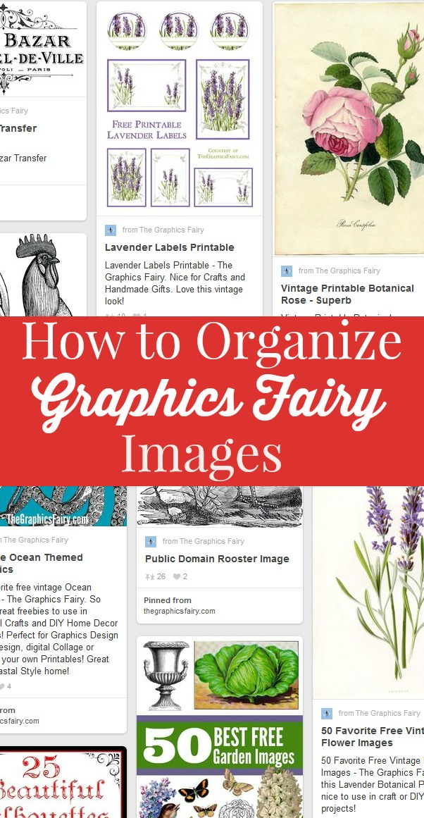 How To Organize Your Graphics Fairy Images So You Can Find