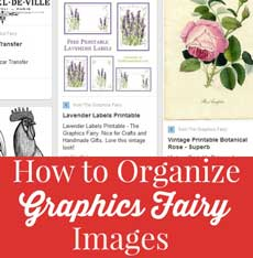 How to Organize your Graphics Fairy Images so you can Find them!