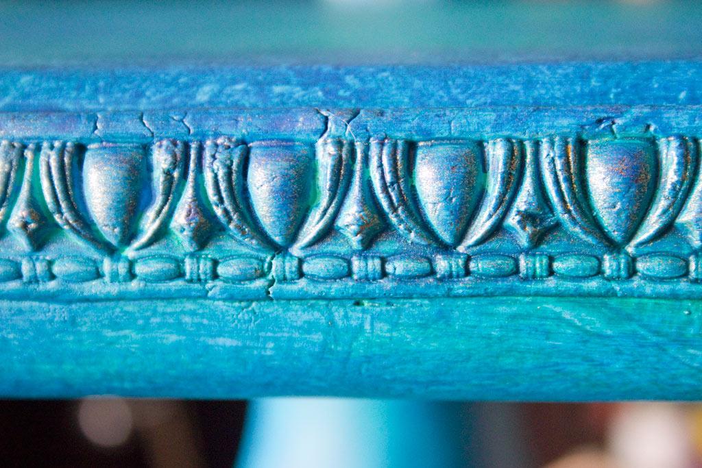 Jewel Tones Painted Furniture Finish-Gilding-Patina-Final