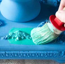 Jewel Tones Painted Furniture Finish – Easy!